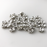 50 Rhinestone rondelle 6mm spacer beads Crystal